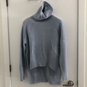Cozy light blue turtle neck sweater